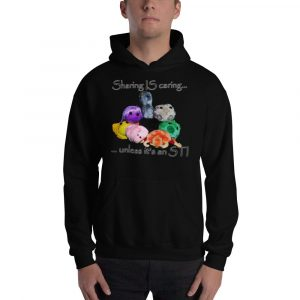sharing is caring black hoodie