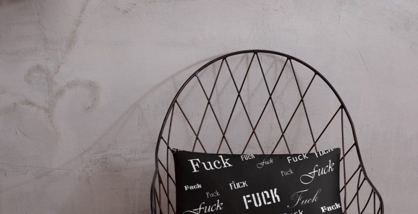 black fuck pillow