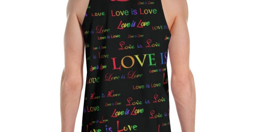 unisex black love is love tank top