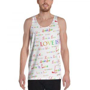 unisex white love is love tank top