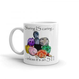 sharing is caring mug