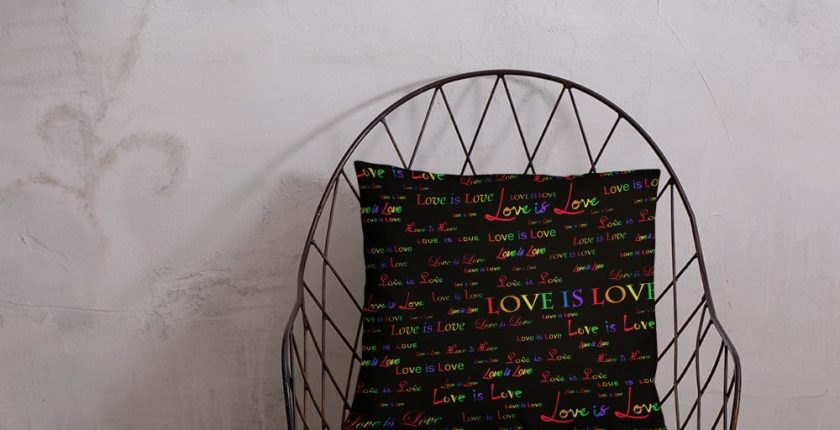 Love is Love Black Throw Pillow