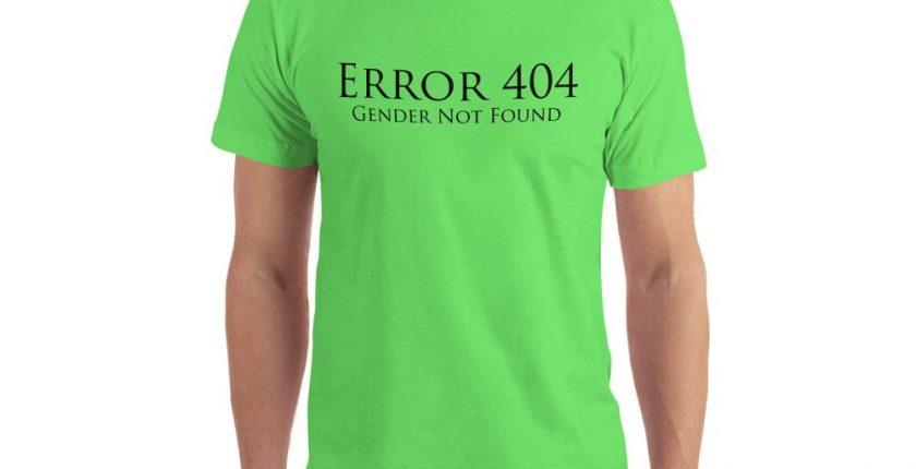 bright green error 404 gender not found unisex tshirt