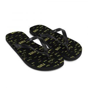 yellow fuck sandals