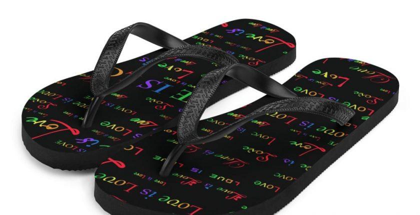 black love is love sandals