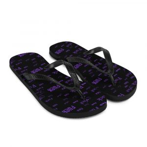 purple fuck sandals