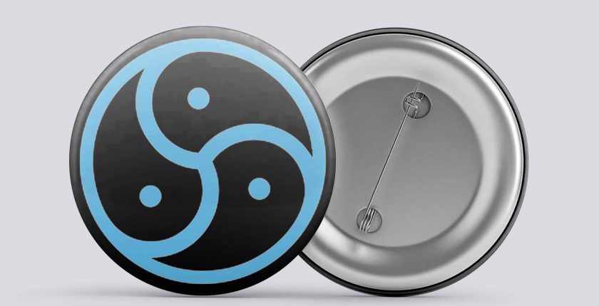 blue bdsm/kink button
