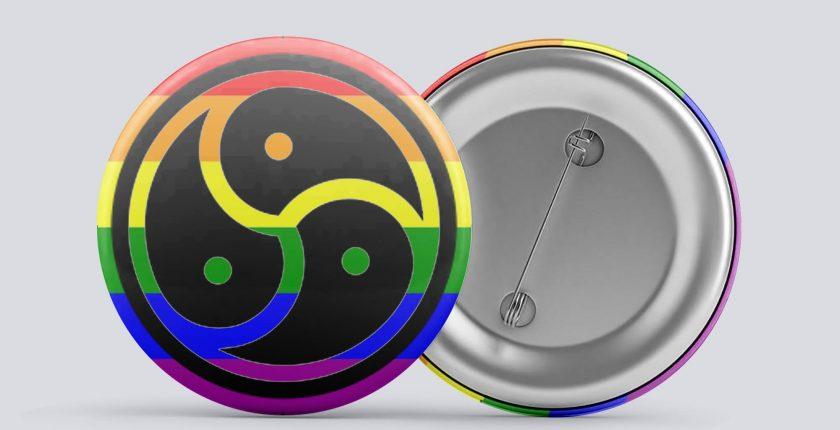 rainbow bdsm/kink button
