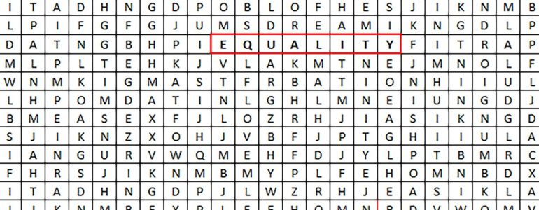 equality wordsearch